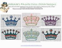 Crowns and more free cross stitch patterns from www.handmade-adelaide-baby.com