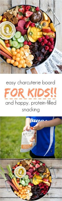 Easy and fun Charcuterie board for the kiddos and our new favorite protein-filled on-the-go snack :) #sponsored #LKEverydy