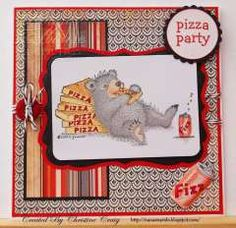 """""""Pizza Party """" by Christine Craig on House-Mouse Designs®"""
