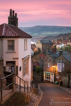 Daybreak At Robin Hoods Bay - The North Yorkshire Gallery - trip Yorkshire England, North Yorkshire, Beautiful Places To Visit, Beautiful World, Places To Travel, Places To Go, Robin Hoods Bay, English Village, Holiday Places