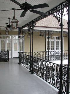 Custom Iron Work on Balcony