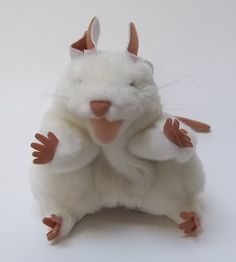 Folksmanis Hand Puppet White Mouse Plush