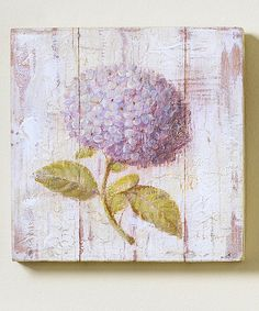 Take a look at this Purple Hydrangea Wall Plaque by Giftcraft on #zulily today!