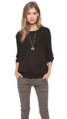 Joie Medley Silk Pullover   SHOPBOP