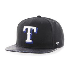 timeless design 993a6 40a1a Texas Rangers Constrictor Captain Black 47 Brand Adjustable Hat