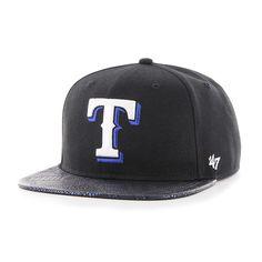 ff6b1350a3a Texas Rangers Constrictor Captain Black 47 Brand Adjustable Hat. Detroit  Game Gear