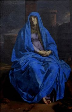 Philippe de Champaigne. The Virgin in Sorrow at the Foot of the Cross, 2nd half of 17th century. Louvre
