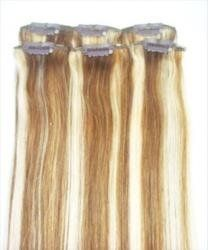 20 Streaks Clip in Hi or Lo Lights 100% Remy Human Hair Extensions #8 Chestnut Brown #24 Light Blonde Mix by MyLuxury1st ONLY. $42.99. Any questions please contact MyLuxury1st, your reliable hair extensions supplier.  We are always happy to serve our customers.