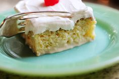 Tres Leches Cake  This literally melts in your mouth.....