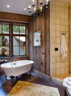 Rustic Interiors by Belle Grey Design - Style Estate - Beautiful ideas, we offer rough cut lumber, call ask for Jim, for your remodel Diy Crafts For Home Decor, Pink Home Decor, Cheap Home Decor, Decorating Your Home, Decorating Blogs, Home Decor Catalogs, Home Decor Store, Cabin Homes, Log Homes