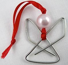 Easy Paperclip Angel Ornament