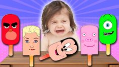 Bad Baby Crying And Learn Colors with Colorful Ice Cream - Finger Family...