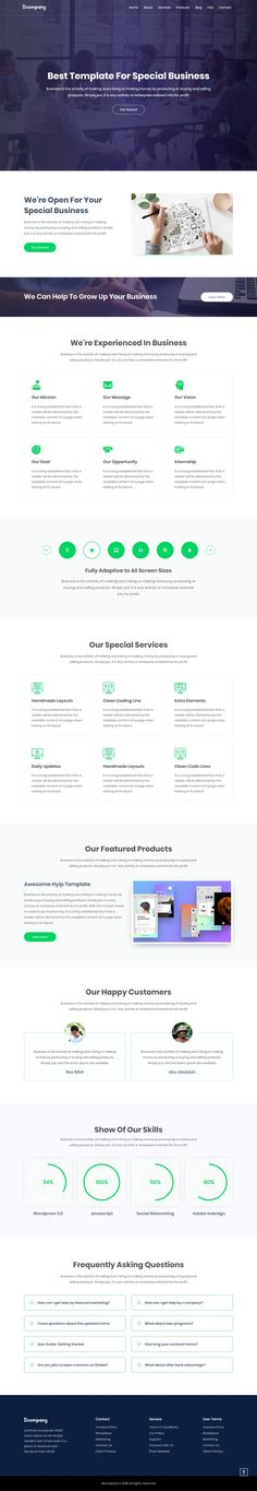 51 Best Corporate Html Website Templates Images In 2019