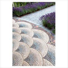 pebble mosaic for the garden