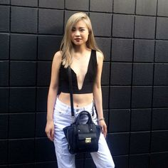 Natalie from Lavagabond Dame with the In Deep Crop Top (http://www.nastygal.com/product/in-deep-crop-top-black)