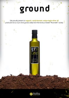 GROUND / Greek Organic Extra Virgin Olive Oil by Angelos Theodoropoulos, via Behance Company Profile Presentation, Graphic Design Projects, Olive Oil, Greek, Behance, Organic, Greek Language