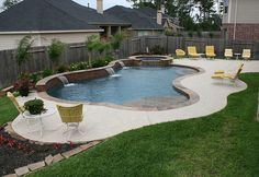 stacked stone spa | Contemporary Swimming Pool Design 59 — Custom Outdoors - Swimming ...