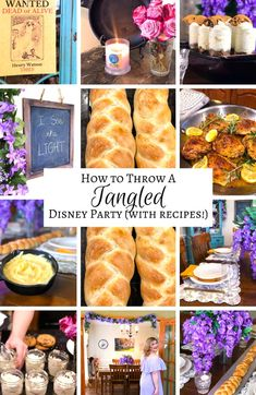 How to throw a Tangled Disney party recipes and all! #Rapunzel #Flynn Disney Themed Food, Disney Inspired Food, Disney Inspired Wedding, Disney Snacks, Disney Food, Disney Recipes, Rapunzel Birthday Party, Tangled Party, Disney Tangled