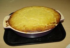 Fresh from the oven, our 18th century style potato pudding from the cookbook of unknown Ladies.