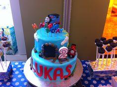 My son's Thomas theme cake!!