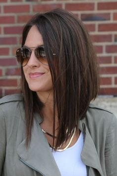 Long Angled Bob #LongBob                                                                                                                                                     More - Looking for Hair Extensions to refresh your hair look instantly? http://www.hairextensionsale.com/?source=autopin-thnew