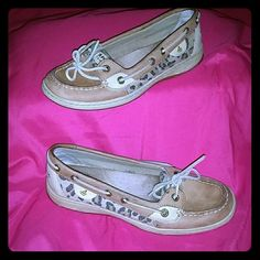Sperry  Top-Siders Sperry shoes with cheetah print Sperry Top-Sider Shoes Flats & Loafers