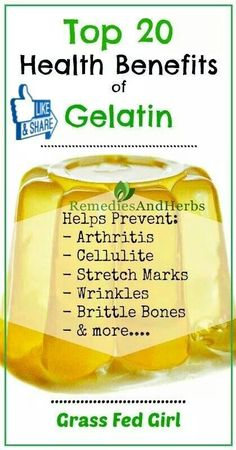 Health benefits of Gelatin