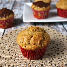 Almost called the Whole Wheat Elvis, these whole wheat muffins are lightly sweet, tender and tasty enough that you better double the recipe.