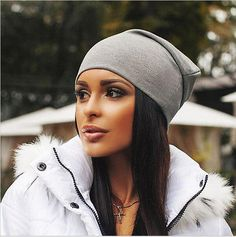 Unisex Cotton Blended Winter Beanies