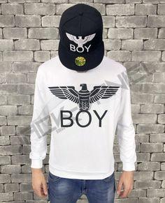 FELPA BOY LONDON BIANCA ART.BL587-WHT Boy London, Graphic Sweatshirt, Street Style, Sweatshirts, Boys, Sweaters, Shopping, Art, Fashion