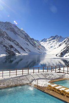 'White Powder, Blue Lake, Yellow Legend' #SkiPortillo, #Chille