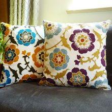 2015 Moda splendid flor decorativa almohada cojines del sofá del estilo Étnico bordado a mano colorido Cojin(China (Mainland))