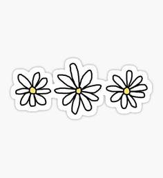 'flower sticker pack' Sticker by elizabethorrr - Sticker drucken - Phone Cases Red Bubble Stickers, Cool Stickers, Printable Stickers, Laptop Stickers, Journal Stickers, Kawaii Stickers, Vsco, Wallpaper Animes, Homemade Stickers