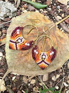 Macrame Earrings, Micro Macrame, Festival Fashion, Festival Style