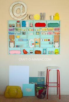 DIY Craft Cubby Wall - Craft-O-Maniac