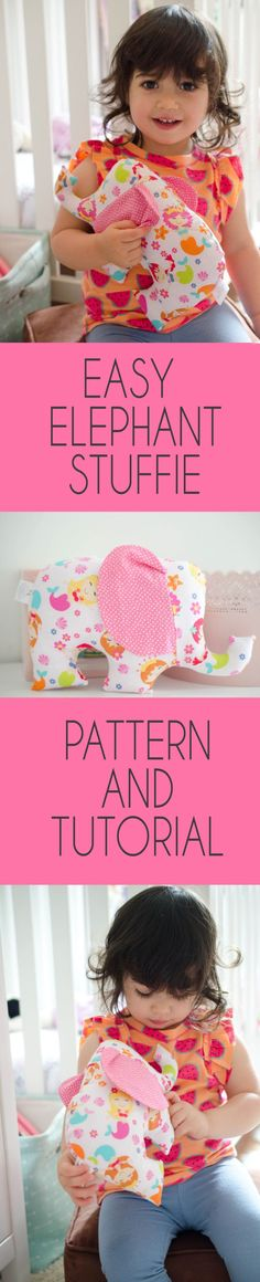 Adorable elephant sewing pattern and tutorial. Easy Sewing Patterns, Easy Sewing Projects, Sewing Crafts, Sewing Diy, Purse Patterns, Craft Projects, Tutorial Sewing, Sewing Tutorials, Sewing Hacks