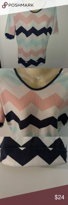 NWT SOFT BRUSHED CHEVRON TOP Design as Shown New w Tags  Soft Brushed Texture  💯 polyester Wear Year round Rue21 Tops
