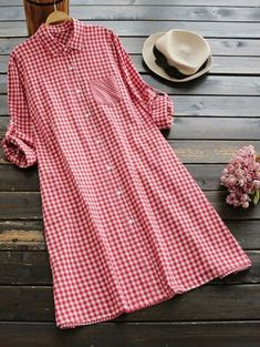 Buy Casual Dresses Casual Dresses For Women at JustFashionNow. Online Shopping Justfashionnow Shirt Dress Long Sleeve Casual Dresses Daily Shift Shirt Collar Pockets Casual Dresses, The Best Daytime Casual Dresses. Discover Fashion Trends at justfashionno Long Sleeve Shirt Dress, Maxi Dress With Sleeves, Dress Long, Dress Shirt, Long Sleeve Maxi, Plaid Dress, Dress Red, Mode Hijab, Casual Dresses For Women