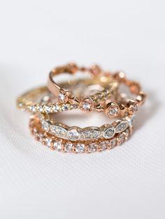 Engagement Ring & Wedding Bands | Davie & Chiyo
