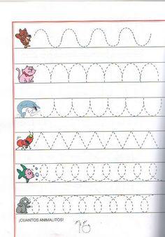 Risultati immagini per szlaczki do wydrukowania Preschool Writing, Kindergarten Math Worksheets, Tracing Worksheets, Preschool Learning Activities, Preschool Printables, Worksheets For Kids, Kids Learning, Maternelle Grande Section, Kids Art Class