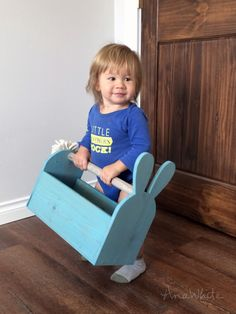 Ana White | Build a Wood Easter Basket Bunny Shaped Trug | Free and Easy DIY Project and Furniture Plans