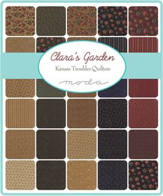 Claras Garden by Kansas Troubles Quilters Layer Cake 9460LC for Moda Fabrics.