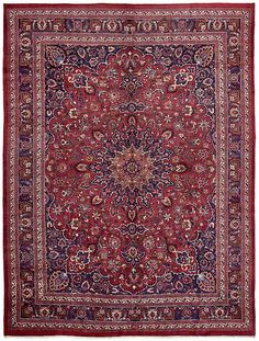 Red Mashad Area Rug 10x13 $1519