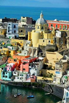 Bay of Naples, Procida Island, Italy  The Talented Mr Ripley and Il Postino were filmed here