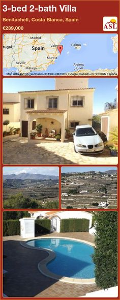 3-bed 2-bath Villa in Benitachell, Costa Blanca, Spain ►€239,000 #PropertyForSaleInSpain
