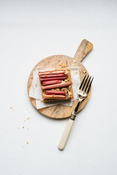 """Rhubarb Bars from """"More With Less"""" 