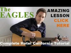 The Eagles - Hotel California - Acoustic Guitar Lesson - Easy Acoustic G. Easy Guitar Songs, Music Guitar, Playing Guitar, Learning Guitar, Guitar Notes, Best Acoustic Guitar, Acoustic Guitar Lessons, Acoustic Guitars, Guitar Tips