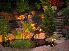 Serenity .. beautiful  BackYard Waterfall and Pond ~ Enviroscape LA Landscape Design http://enviroscapela.com  #enviroscape #backyard
