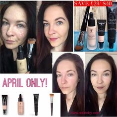 FLAWLESS 4 now with a 29% savings, April Kudos. Liquid foundation, concealer, liquid foundation brush and primer