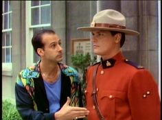 Paul Gross (on right) in Due South TV series 1994-1999 - inspiration for Seth Cooper in Diamond Lust.